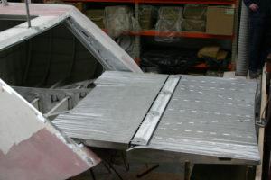 Stern hatch (engineering by Frans Brandjes)